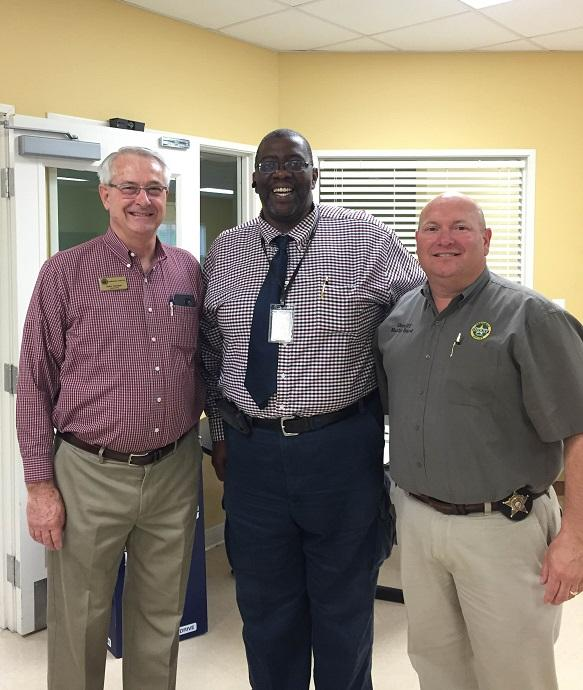 Senator John Cooper, Dwayne Yarbrough, and Sheriff Marty Boyd.JPG